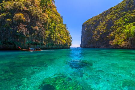 Ao Lo sa ma is snorkeling point famous tour lagoon in Phi Phi Islands Thailand