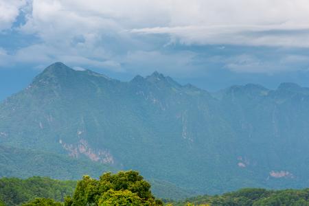 Doi Luang Chiang Dao looking from Doi Mae Ta man ,Chiang Mai ,Thailand