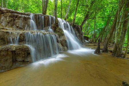 Pa Wai Waterfall,Beautiful waterfall in Tropical Rain forest,Tak Province, Thailand