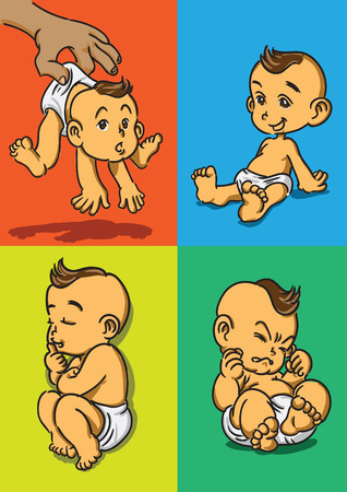 4 actions of baby