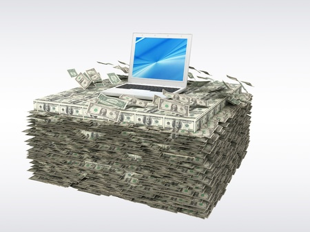 Laptop money photo