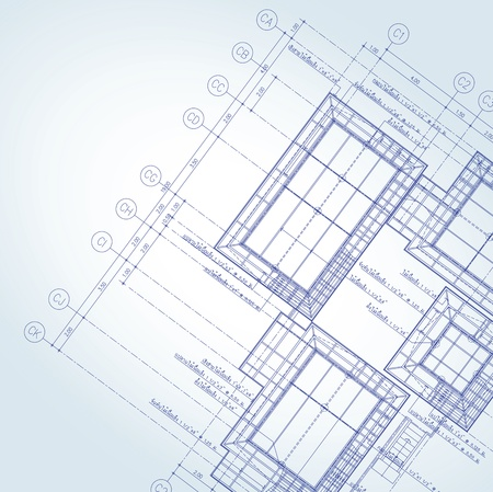 house blueprint: Vector of Blue print architect