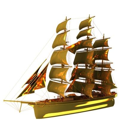 barque: Boat,Barque gold
