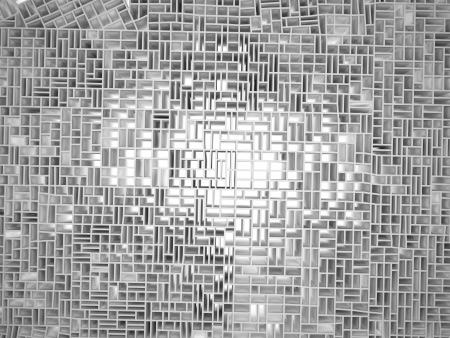 3d render of wall broken background photo