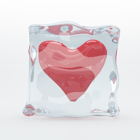 Heart in Ice Cube Stock Photo - 21728825