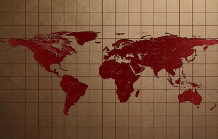 Lesion in Leather Texture of World map Stock Photo - 21729880