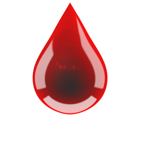 Blood drop on isolated photo