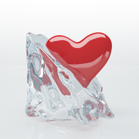 Heart in Ice Cube Stock Photo - 22240337