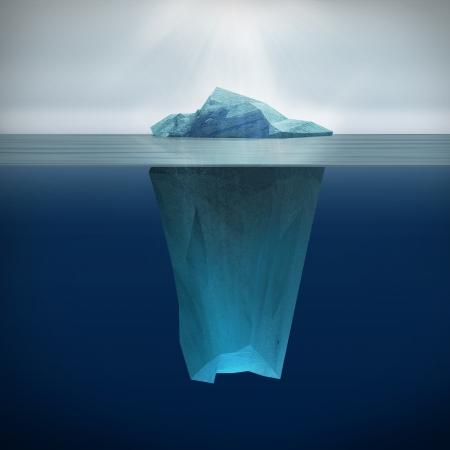 빙산: 빙산의 3D 렌더링