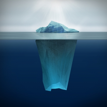 reflexion: 3d de Iceberg Foto de archivo