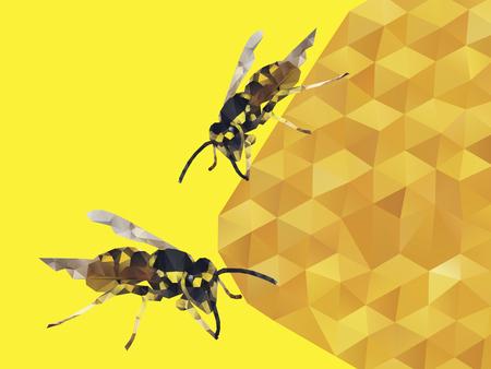 Honey Bee of Vector Vector
