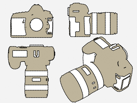 Camera film picture vector Vector