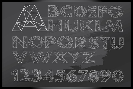 home schooling: Alphabets and numbers written on blackboard Illustration