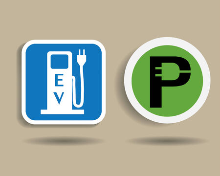 car charging station Vector
