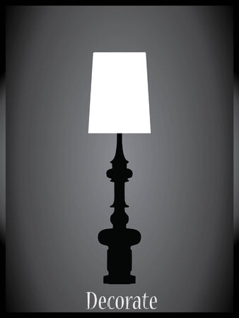 transitional: Lamps and chandeliers vector