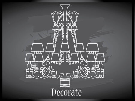 Lamps and chandeliers vector Vector