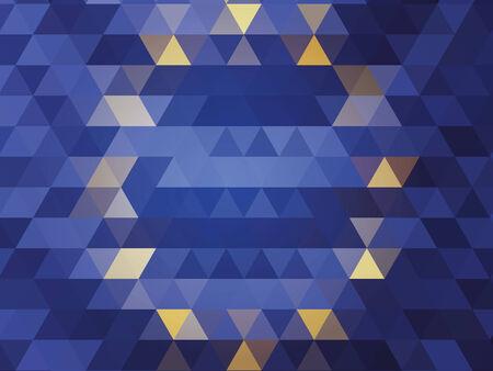 evropský: abstraktní vlajka Evropské unie Ilustrace