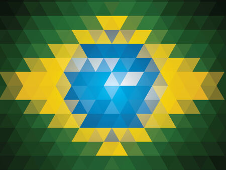 brasilia: abstract Brazil Flag Illustration