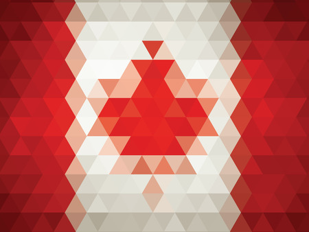 abstract Flag of Canada