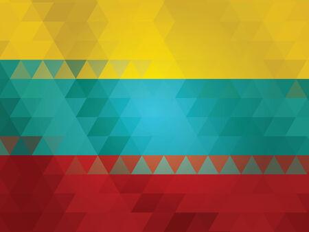 lithuania flag: Lithuania flag of vector Illustration