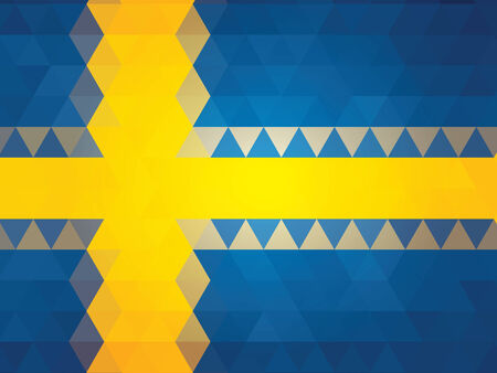 schweden flagge: abstrakte Schweden-Flagge Illustration