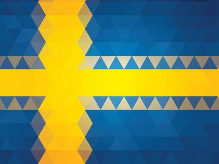 sweden flag: astratto Svezia Bandiera