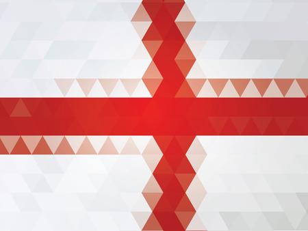 bandera inglaterra: Bandera de Inglaterra del vector Vectores