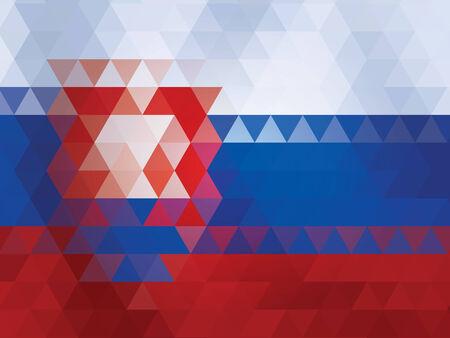 slovakia flag of vector Illustration