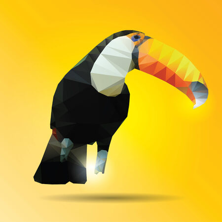 hornbill: Abstract color hornbill of background Illustration