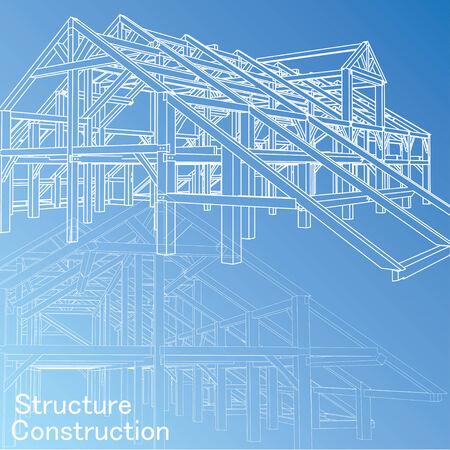 Vecteur de Blue print architecte