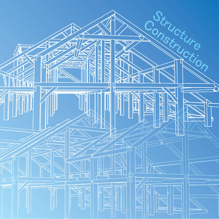 residential district: Vector of Blue print architect