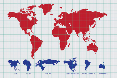 World Map Draw On Paper Royalty Free Cliparts Vectors And Stock