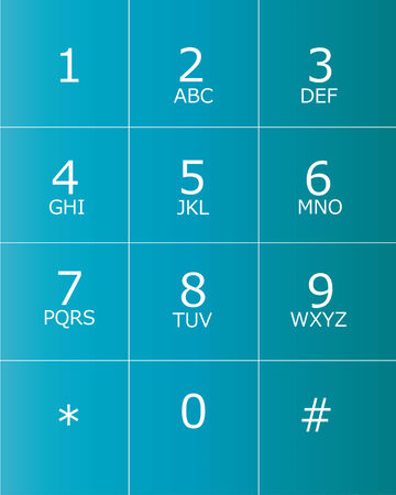 keypad for telephone Vector