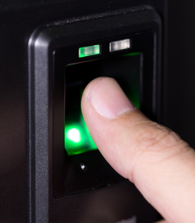 fingerprint and password lock in a office building photo