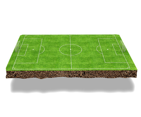 ruling: Football field 3d render