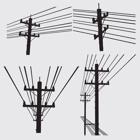 telephone pole: Electricity poles and structures construction
