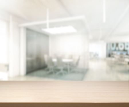 Table Top And Blur Office Of Background photo