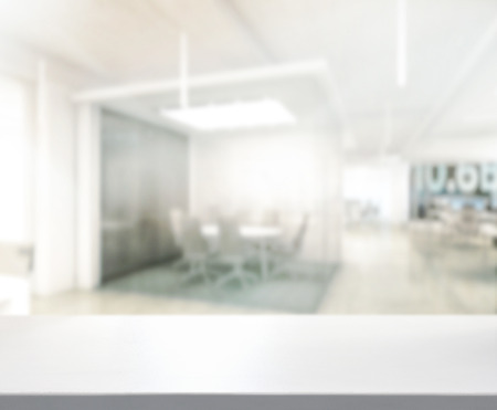 Table Top And Blur Office Of Background Banco de Imagens