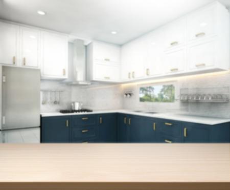 cucina moderna: Table Top e sfocatura Interno Sfondo