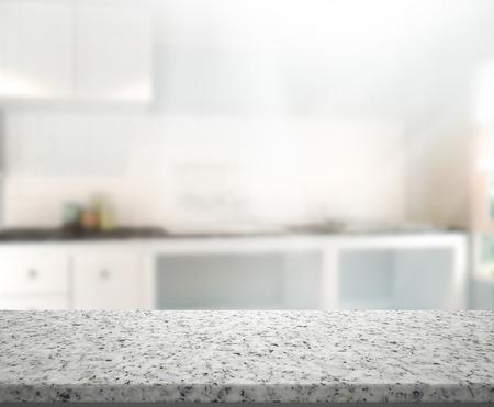 cucina moderna: Table Top E Blur Background Interior