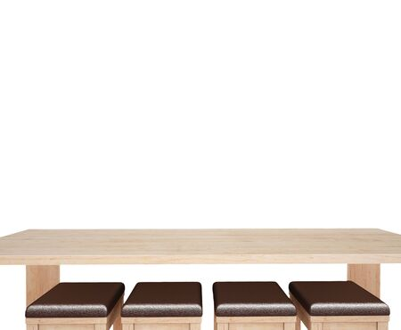finite: Top wooddesk with white background