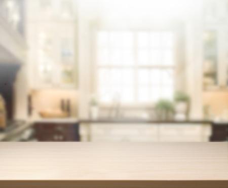 Table Top En Blur Interieur van Achtergrond