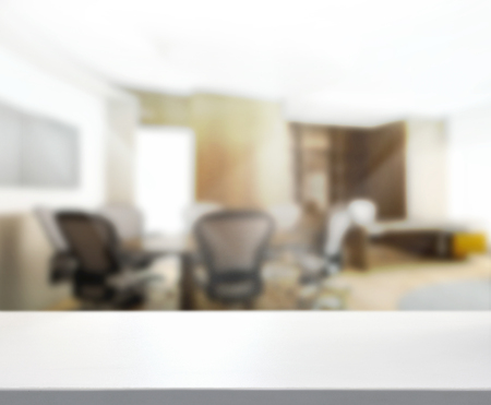 Table Top And Blur Office of Background Stockfoto