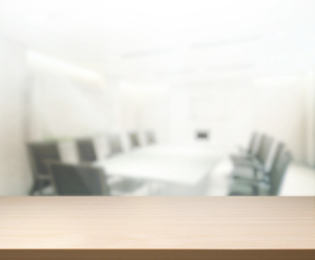 Table Top And Blur Office Of Background Archivio Fotografico