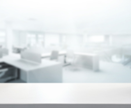 Table Top And Blur Office of Background Banque d'images