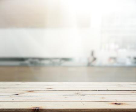 Tischplatte und Blur Innenansicht der Hintergrund