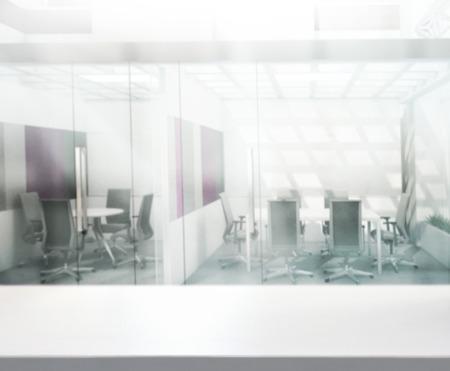 Tischplatte und Blur Büro des Hintergrund