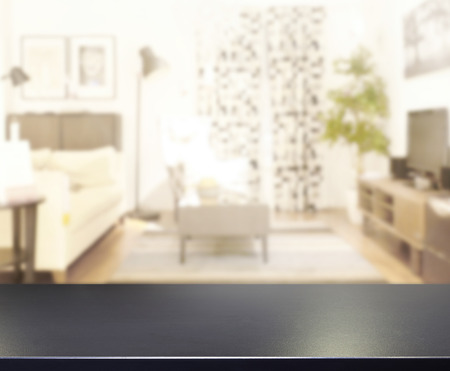 living room design: Table Top And Blur Living Room Of  Background