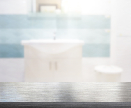 sink: Table Top And Blur Bathroom Of The Background