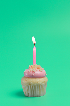 Birthday Cake On Color For Background